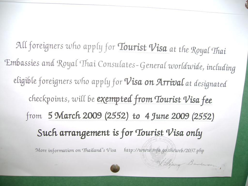 051.jpg /TOURIST VISA IS FREE UNTIL 4TH JUNE(picture included)/General Discussion / News / Information/  - Image by: