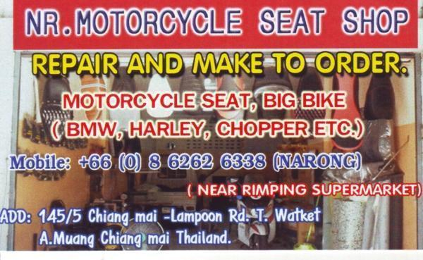 257079=21477-10-narong-seat-magician.jpg /Chiang Mai Handy Motorcycle Related Shops/Northern Thailand - General Discussion Forum/  - Image by: