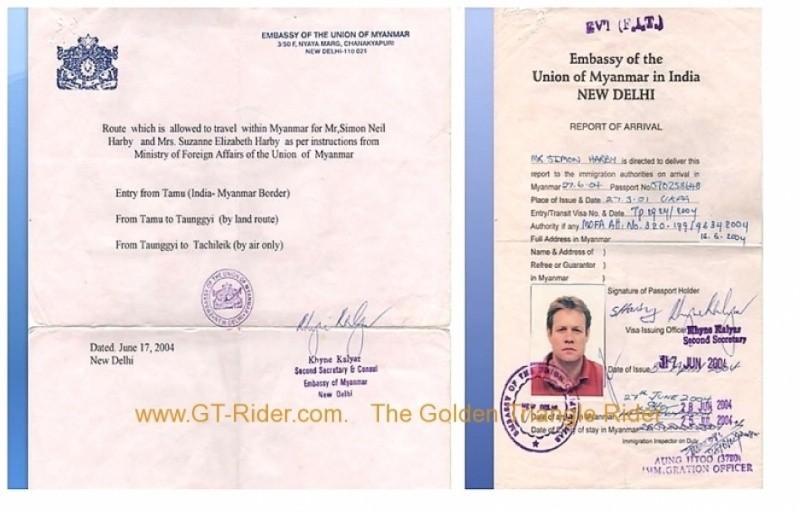 286793=14316-simonsuzymyanmarpermit.jpg /Burma the missing link of overland travel?/Myanmar - Motorcycle Trip Report Forums/  - Image by: