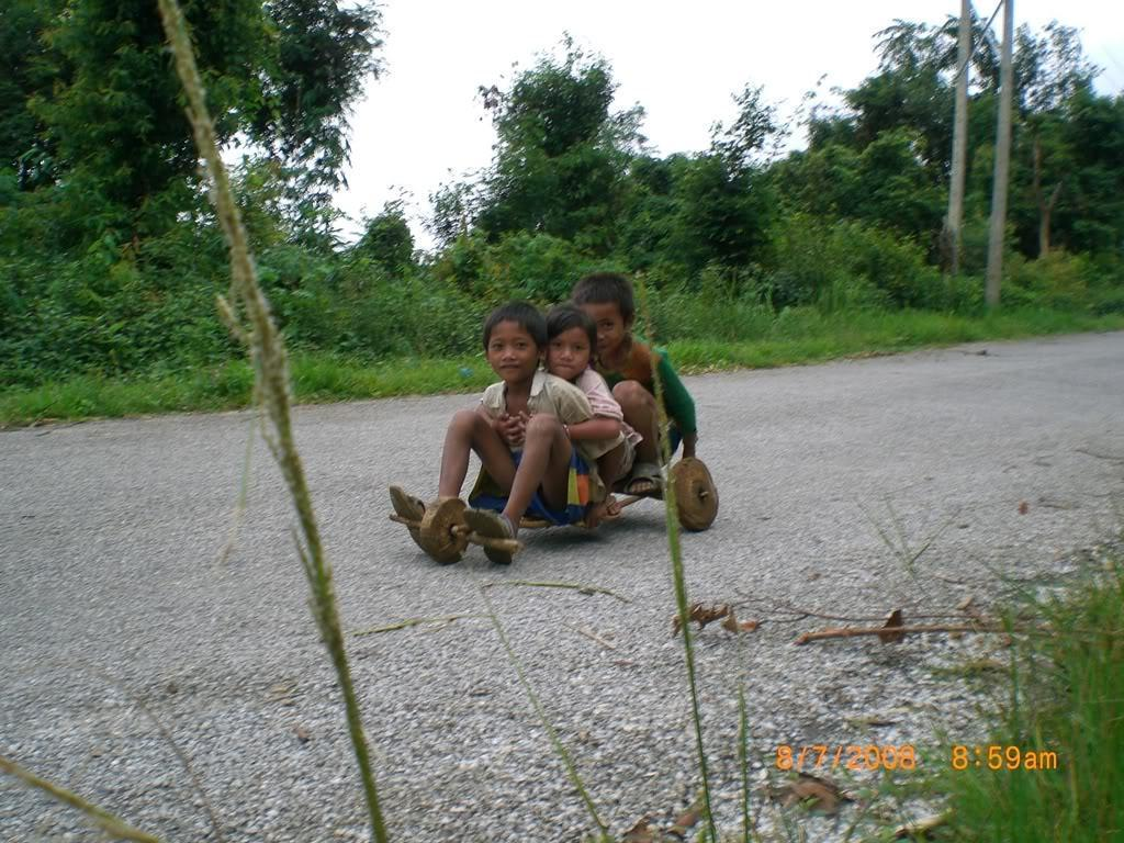 Localkidsbillycart.jpg /Laos - Riding What You Got!/Laos Road  Trip Reports/  - Image by: