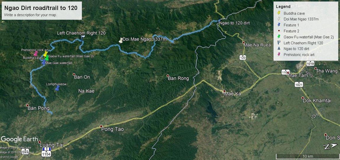 Ngao Dirt road trail to 120.