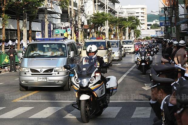 Prayuth in escort.