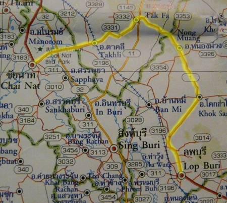 RouteMap-ChaiNattoLopburi.