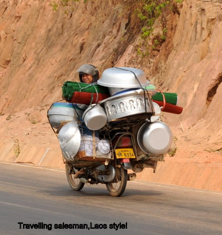 Salesman_zps9d4a9060.jpg in Update on the road that goes south from Phonsavan to HWY 8 at Lak Ha. from  brian_bkk at GT-Rider Motorcycle Forums