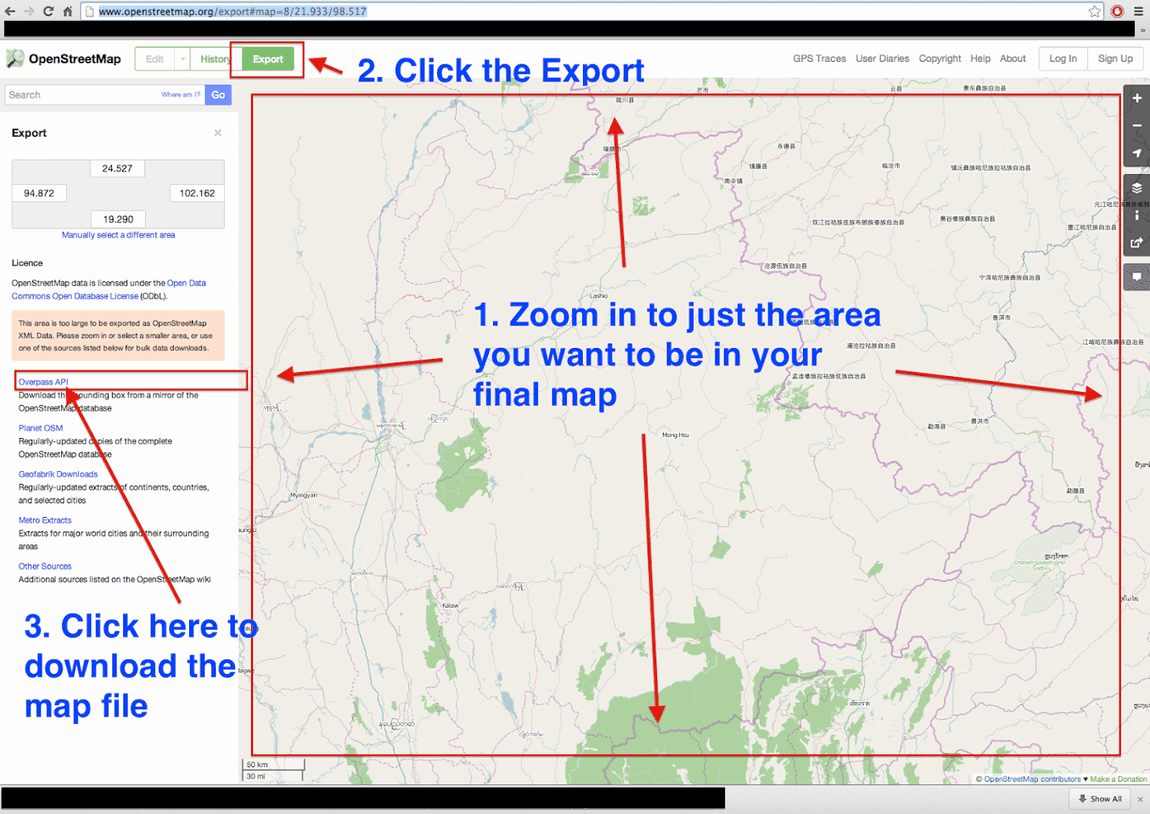 shot1.png /How to Make a Garmin GPS Map from OSM (Open Street Maps)/GPS Use, Tracks & Maps Discussion/  - Image by:
