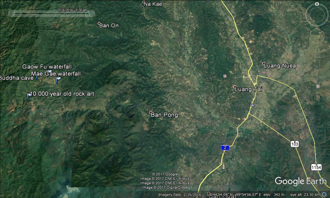 Tham PaThai Google earth 2.
