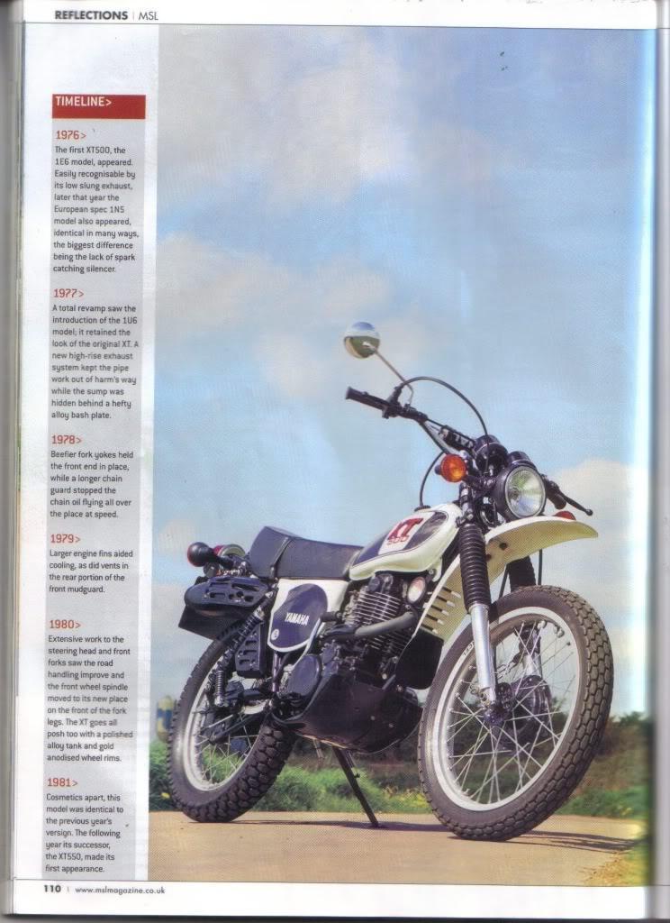 YamahaXT500.